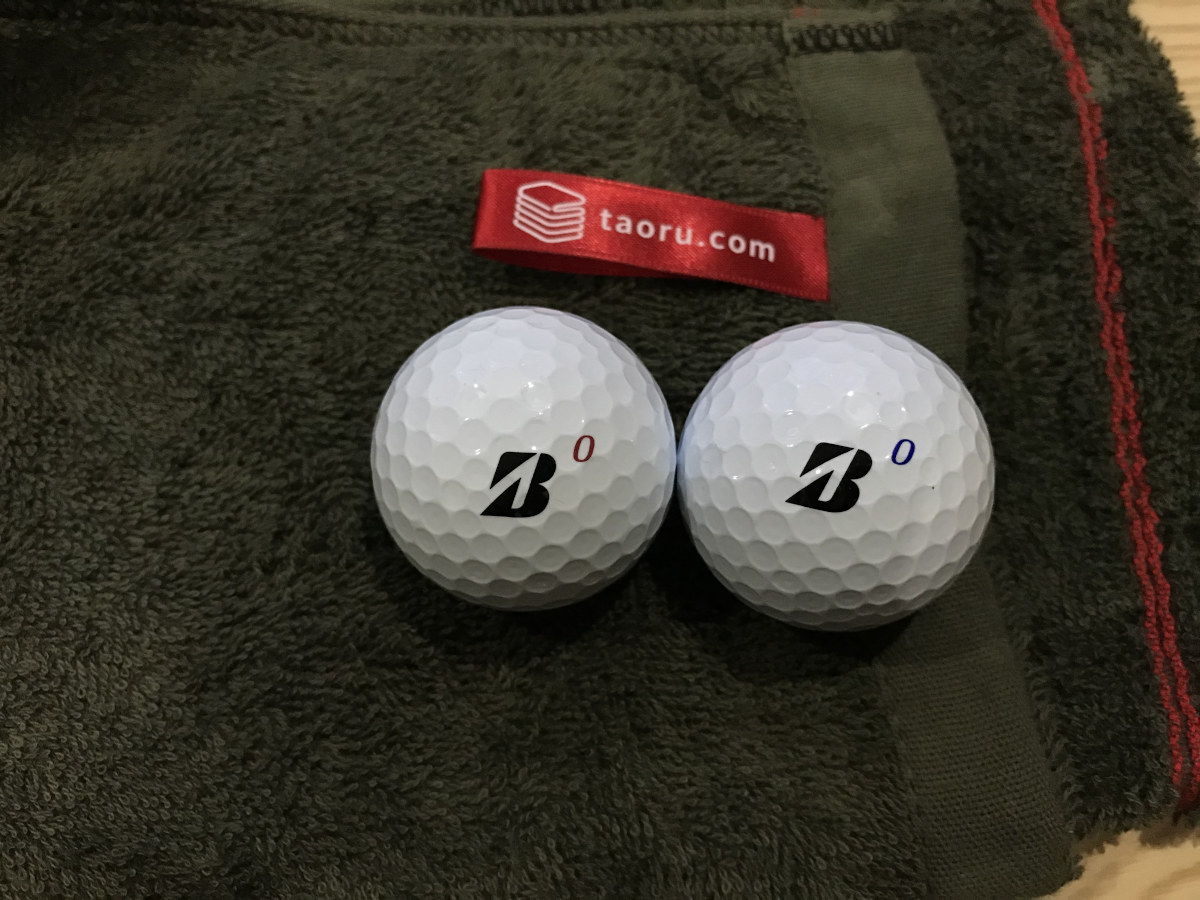 泉州タオルお客様の声:No.9 toshi様 フェイスタオル ゴルフボールと共に