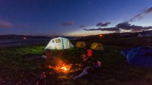 キャンプにおけるタオル